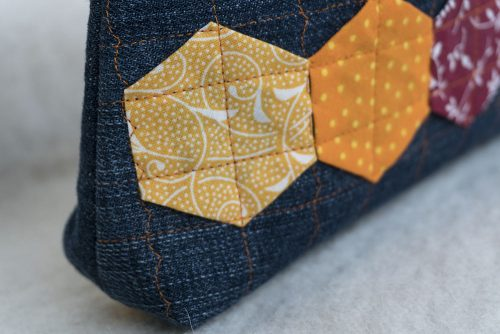 Detail Mäppchen Orange Quilt