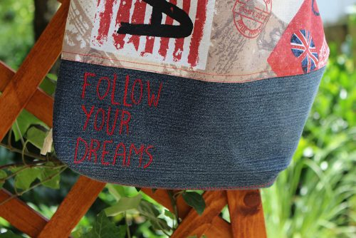 Detail Follow your Dreams Turnbeutel